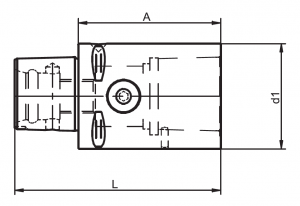 Capto extension with radial clamping diagram