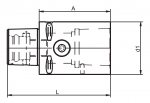 Capto extension with radial clamping diagram (Click image to enlarge)