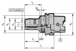 HSK-A 63 Hydraulic Chucks with Increased Clamping Force (Click image to enlarge)