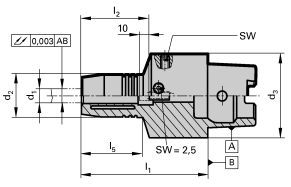 HSK-C 63 Hydraulic Chucks with Radial Length Setting