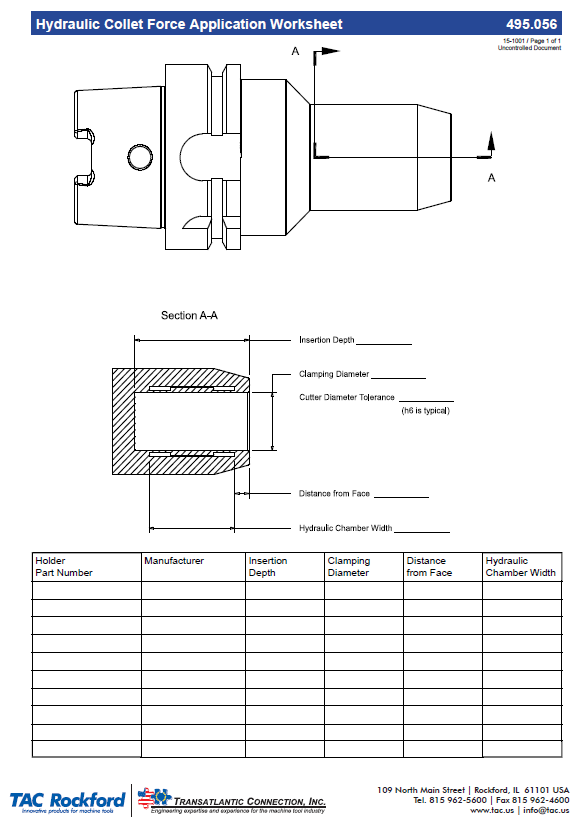 hydraulic collet force application worksheet. Black Bedroom Furniture Sets. Home Design Ideas