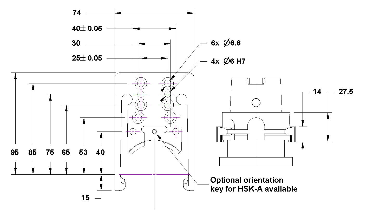 cat 40 tool holder dimensions. tool changer gripper for hsk-a/e/f/t 63 cat 40 holder dimensions