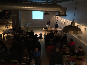 Planning and Informational Presentation, Kevin Holdmann and Doug Heimbecker. Space and photography provided by Pablo Korona and Conveyer, Dec. 17. 2015