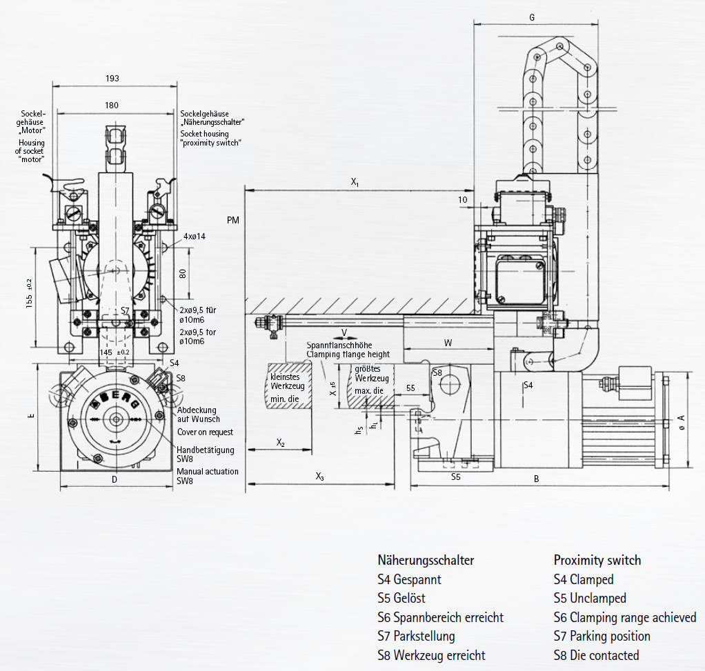 Berg Automatic Electromechanical Bellcrank Lever Style Clamping Systems Crank Schematic