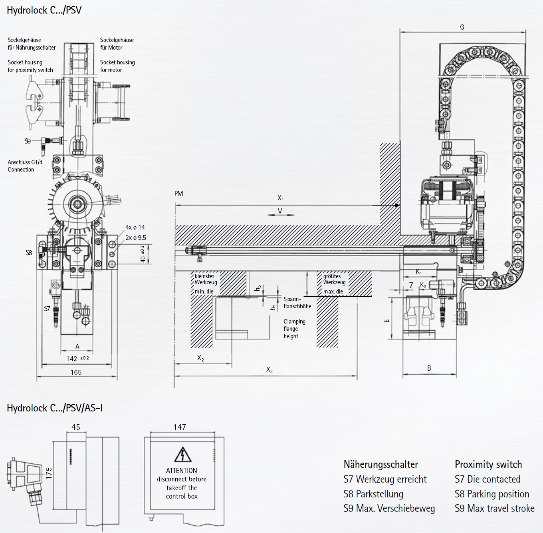 Berg Automatic Hydro Mechanical Self Locking C Clamping