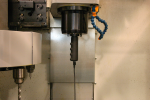 Measuring adapter inside spindle (Click image to enlarge)